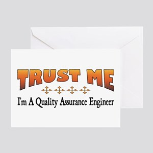 Trust Quality Assurance Engineer Greeting Cards (P