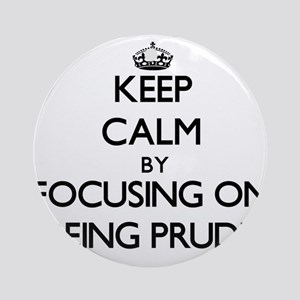 Keep Calm by focusing on Being Pr Ornament (Round)