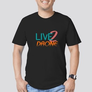 Live 2 Drone Men's Fitted T-Shirt (dark)