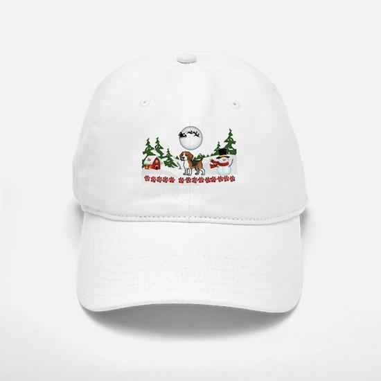 Merry Christmas Beagle Paws Baseball Baseball Cap