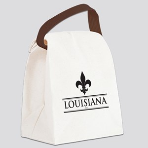 Louisiana: Flue de Lis Canvas Lunch Bag