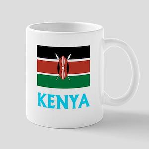 Kenya Flag Classic Blue Design Mugs
