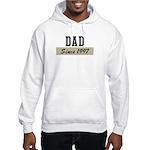 Dad since 1997 (brown) Hooded Sweatshirt