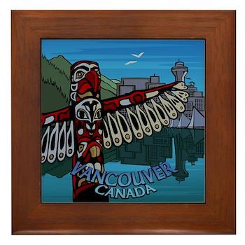 Vancouver Canada Souvenir Framed Tile