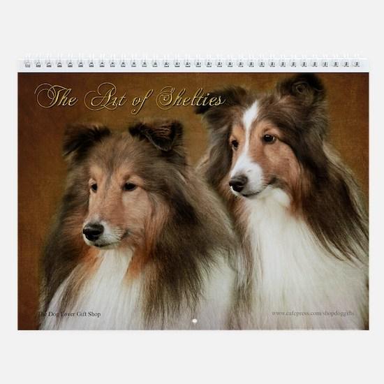 The Art of Shelties Wall Calendar