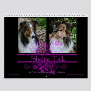 Sheltie Talk Wall Calendar