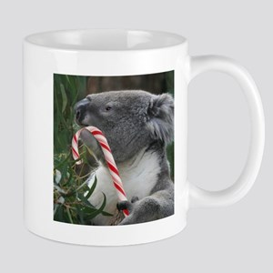 Christmas Koala Candy Cane Mugs