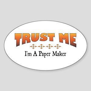 Trust Paper Maker Oval Sticker
