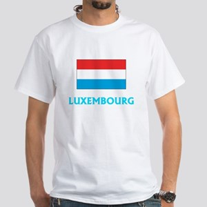 Luxembourg Flag Classic Blue Design T-Shirt