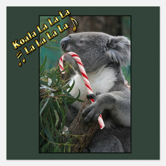 Australian Christmas Koala with Candy Invitations