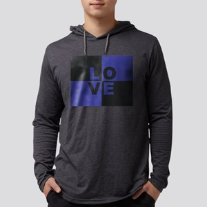 LOVE - Purple and Black Long Sleeve T-Shirt