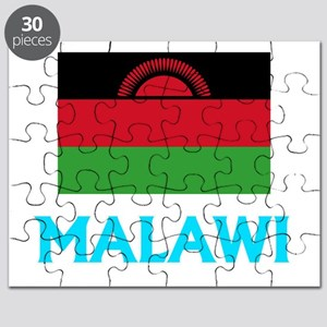 Malawi Flag Classic Blue Design Puzzle