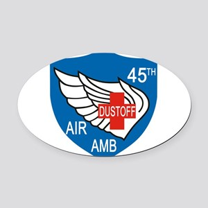 45th Medical Dustoff Patch Oval Car Magnet