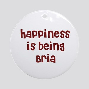 happiness is being Bria Ornament (Round)