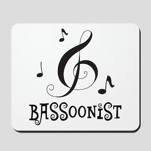 Bassoonist Music Logo Mousepad