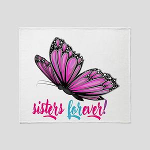 sisters forever Throw Blanket