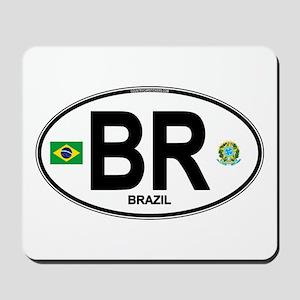 Brazil Intl Oval Mousepad