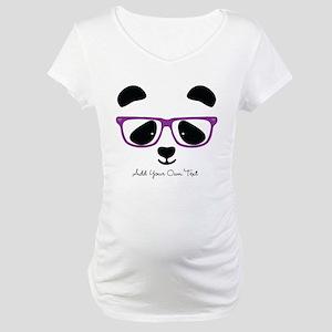 Cute Panda Purple Maternity T-Shirt