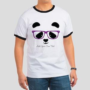 Cute Panda Purple Ringer T