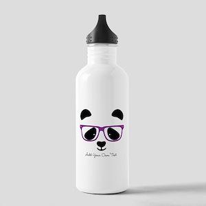 Cute Panda Purple Stainless Water Bottle 1.0L