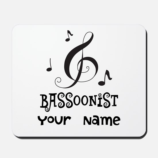 Bassoon Personalized Music Mousepad