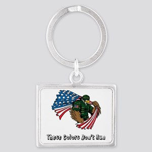 Custom Flag and Eagle Keychains