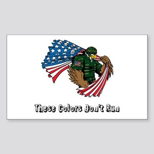 Custom Flag and Eagle Sticker