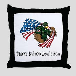 Custom Flag and Eagle Throw Pillow