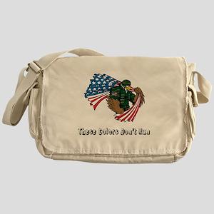 Custom Flag and Eagle Messenger Bag