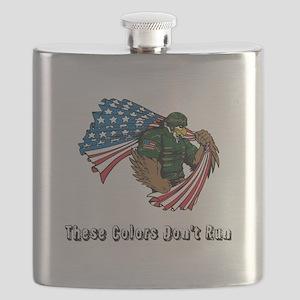 Custom Flag and Eagle Flask