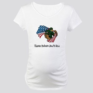 Custom Flag and Eagle Maternity T-Shirt