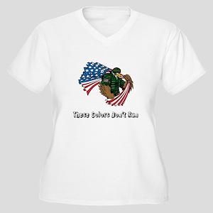 Custom Flag and Eagle Plus Size T-Shirt