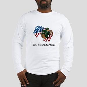 Custom Flag and Eagle Long Sleeve T-Shirt