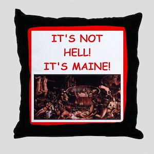 maine Throw Pillow