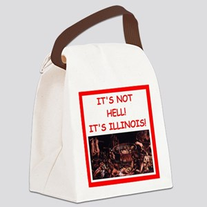 illinois Canvas Lunch Bag