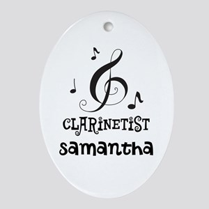 Clarinetist Personalized Music Oval Ornament