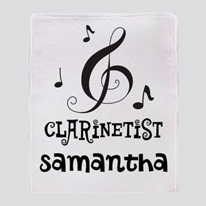Clarinet Personalized Throw Blanket