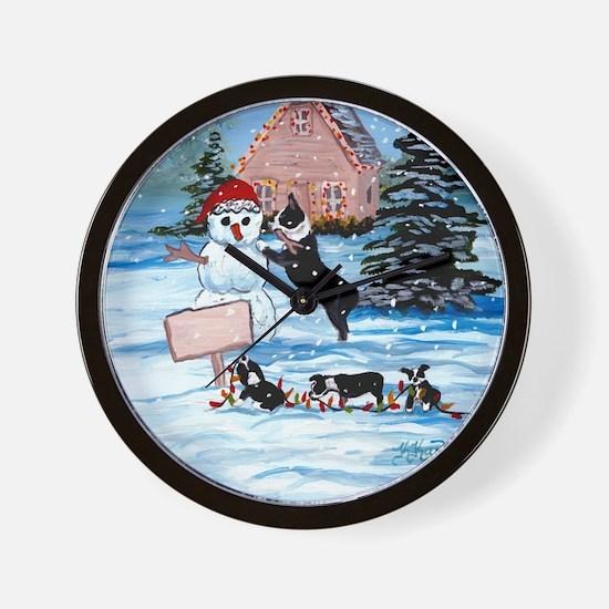 Boston Terrier DFC Wall Clock