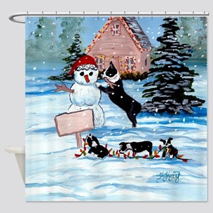 Boston Terrier DFC Shower Curtain