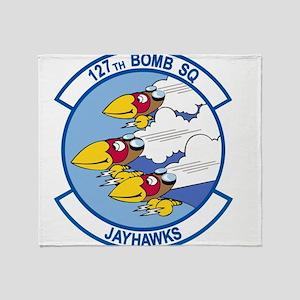 127th_bomb_sq Throw Blanket