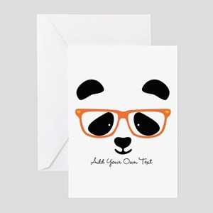 Cute panda greeting cards cafepress cute panda with orange g greeting cards pk of 20 m4hsunfo