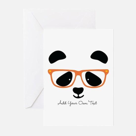 Cute Panda with Orange G Greeting Cards (Pk of 20)