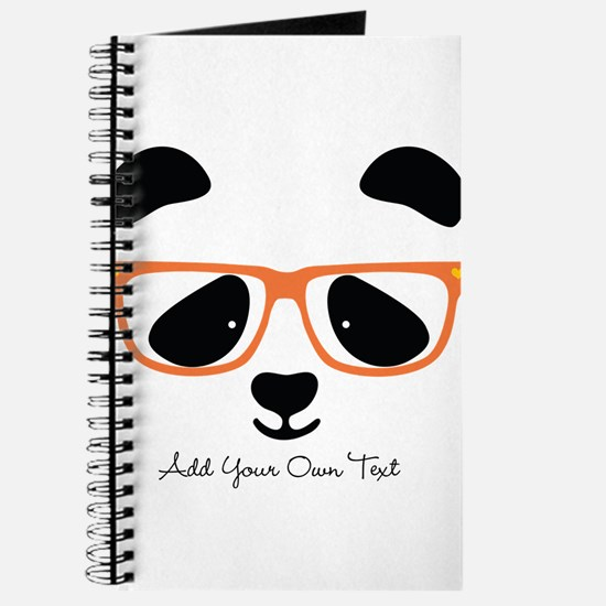 Cute Panda with Orange Glasses Journal