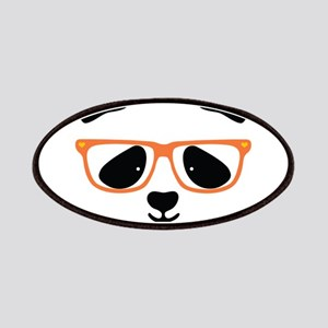 Cute Panda with Orange Glasses Patch
