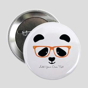 """Cute Panda with Orange Glasses 2.25"""" Button"""