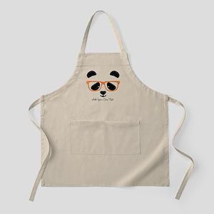 Cute Panda with Orange Glasses Light Apron