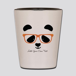 Cute Panda with Orange Glasses Shot Glass