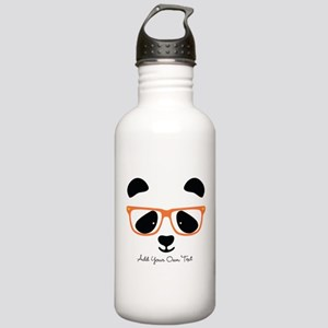 Cute Panda with Orange Stainless Water Bottle 1.0L