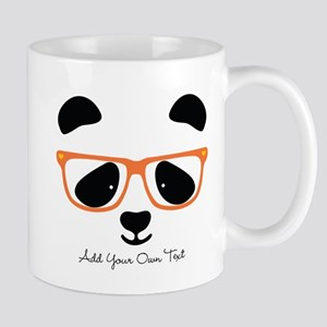 Cute Panda with Orange Glasses 11 oz Ceramic Mug