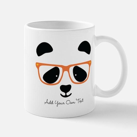 Cute Panda with Orange Glasses Mug